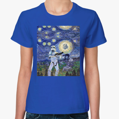Женская футболка Star Wars Starry Night