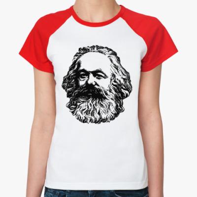 Женская футболка реглан   Карл Маркс