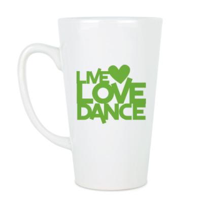 Чашка Латте Live Love Dance