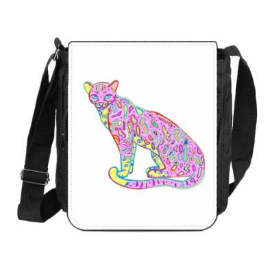 Сумка на плечо (мини-планшет) Дикая кошка