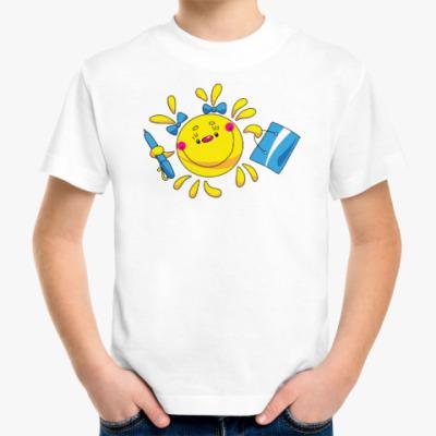 Детская футболка СОЛНЦЕ С БАНТИКАМИ