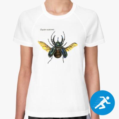 Женская спортивная футболка Oryctes nasicornis