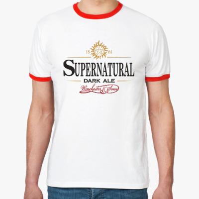 Футболка Ringer-T Supernatural - Темный эль