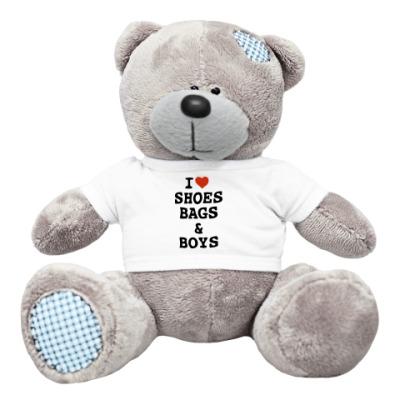 Плюшевый мишка Тедди I Love Shoes, Bags & Boys