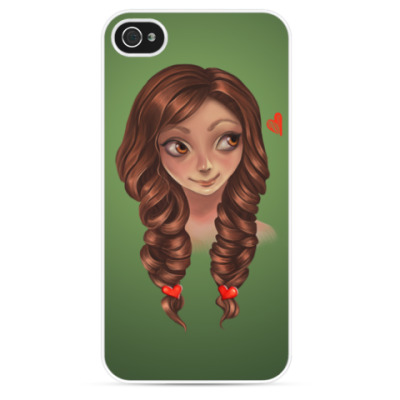 Чехол для iPhone Романтичная девушка