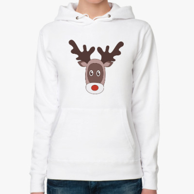 Женская толстовка худи Reindeer