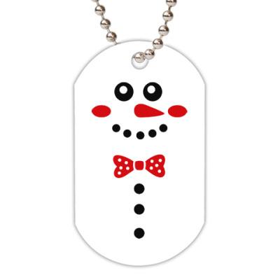 Жетон dog-tag Снеговик