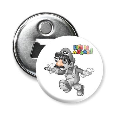 Магнит-открывашка Марио - жизнь игра
