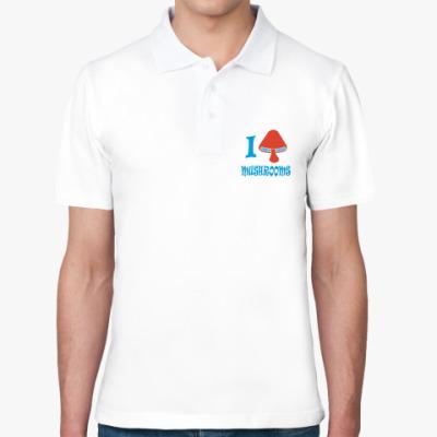 Рубашка поло Люблю грибы !