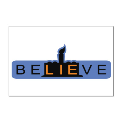 Наклейка (стикер) BeLIEve
