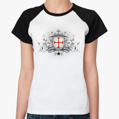 Женская футболка реглан Орден Тамплиеров