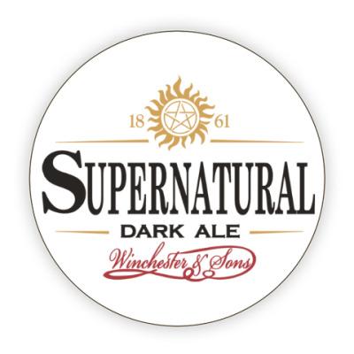 Костер (подставка под кружку) Supernatural - Темный эль