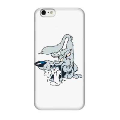 Чехол для iPhone 6/6s злой,серый волк