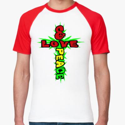 Футболка реглан love & peace