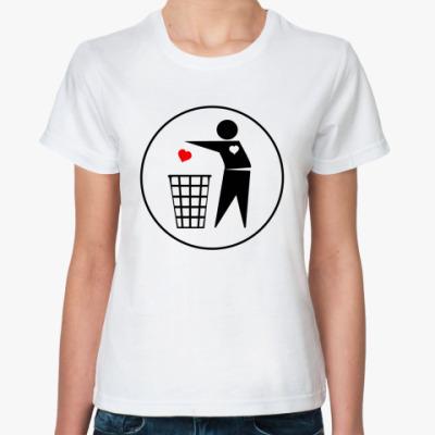 Классическая футболка Throw out Heart