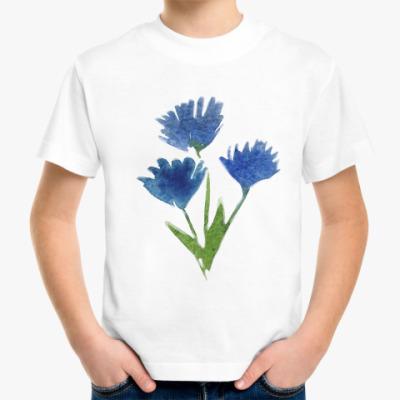 Детская футболка Василек полевой