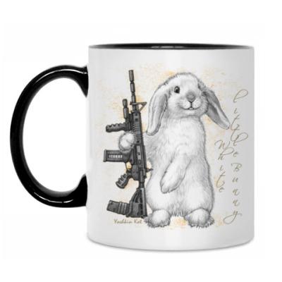 Кружка Маленький белый зайчик