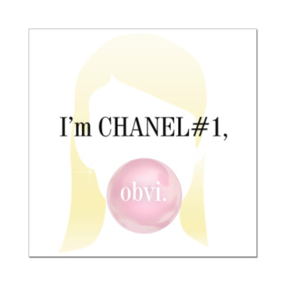 Наклейка (стикер) Channel#1 quotes. Scream Queens