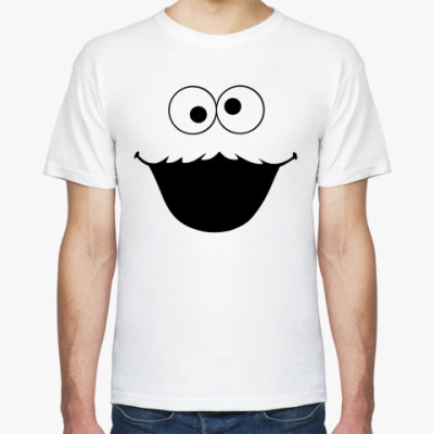 Футболка  Cookie Monster face