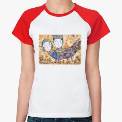 Женская футболка реглан Птица Мифическая