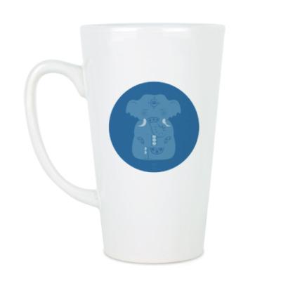 Чашка Латте Animal Zen: E is for Elephant