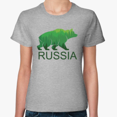 Женская футболка Россия, Russia