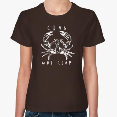 Женская футболка Краб