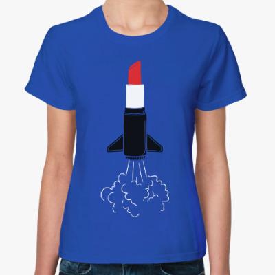 Женская футболка Помада