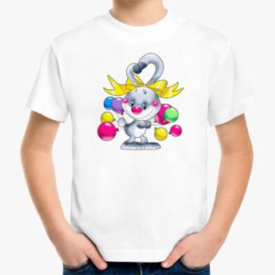 Детская футболка ЗАЯЦ С ШАРИКАМИ