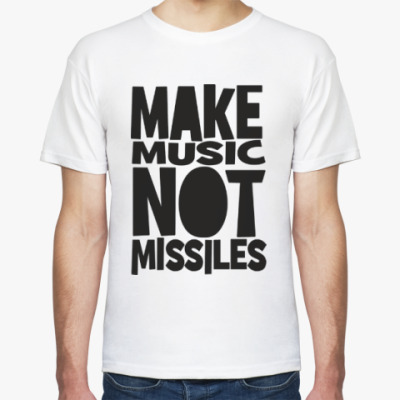 Футболка Make music not missiles