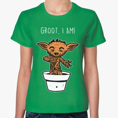 Женская футболка Грут (Стражи Галактики)