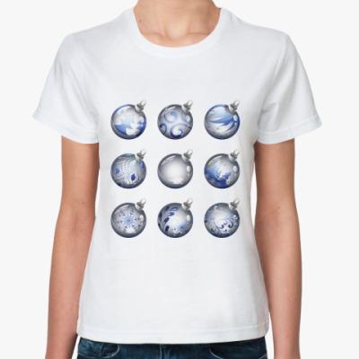 Классическая футболка Новогодние шары