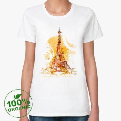 Женская футболка из органик-хлопка Эйфелева башня