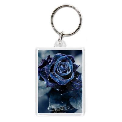 Брелок Синяя роза