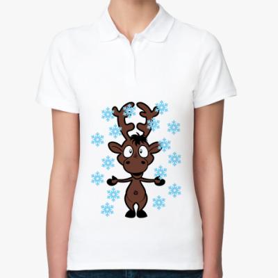 Женская рубашка поло Олень