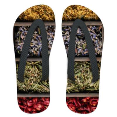 Шлепанцы (сланцы) Сушеные травы