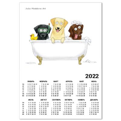 Календарь Лабрадоры