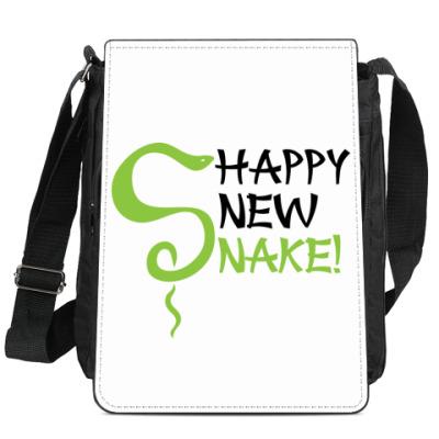 Сумка-планшет Happy new snake!