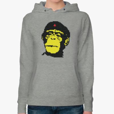 Женская толстовка худи Che Guevara- monkey