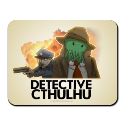 Коврик для мыши Коврик «Detective Cthulhu»