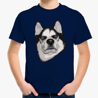 Детская футболка Суровый Хаски