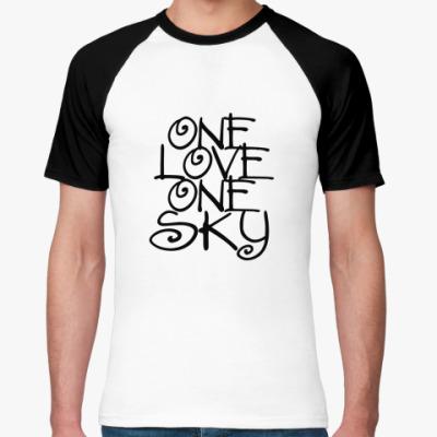 Футболка реглан ONE love, ONE sky