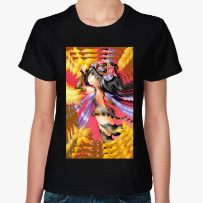 Женская футболка Танец пчелки аниме Киото