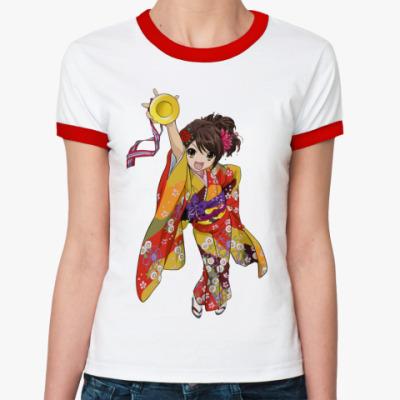 Женская футболка Ringer-T Богиня в кимоно