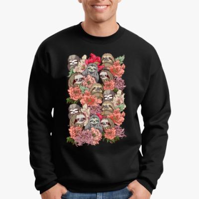 Свитшот Ленивцы в цветах