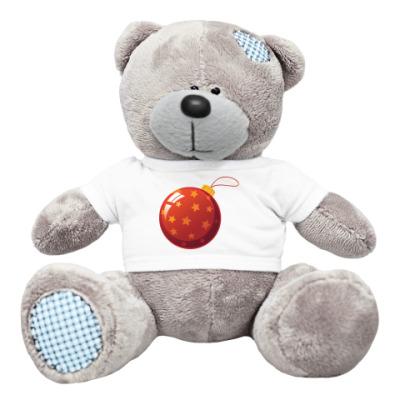Плюшевый мишка Тедди Елочный шар