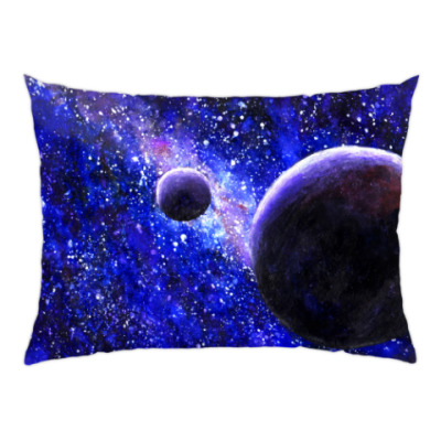 Подушка Акварель - Космос и Планеты