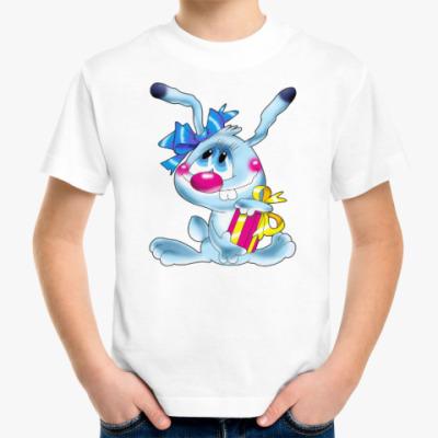 Детская футболка ЗАЯЦ С ПОДАРКОМ