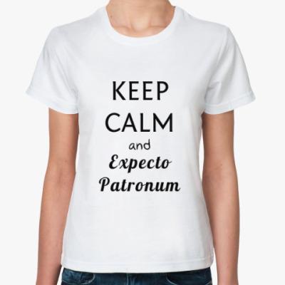 Классическая футболка Keep calm & expecto patronum