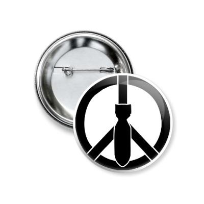 Значок 37мм Peace